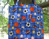 SPORTS Themed Children's Activity and Travel Art Tote