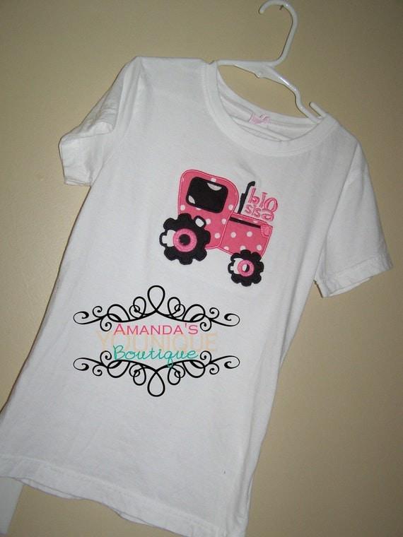 Big Sister Tractor Custom Embroidered Shirt Big Sister