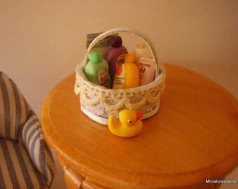 Dollhouse baby basket