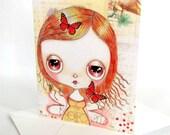Fairy Card Greeting Card Butterflies