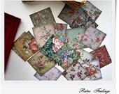 Handmade Stickers English Roses Shabby Victorian