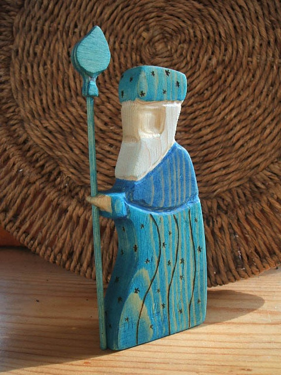 waldorf inspired Father Frost King Winter nature table 13 cm tall