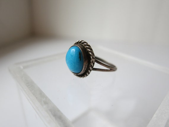 Ring Turquoise Silver Size 6