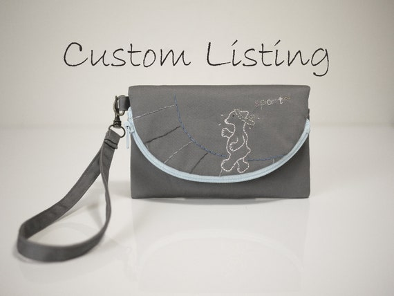 Custom iPhone Wallet in Gray for Leah