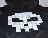 Cool hoodies for boys skull hoodie 8 bit retro pixel gamer clothing design black hoodie sweatshirt teens men gift for son boyfriend friend