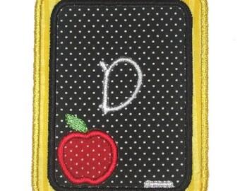 Instant Download Chalk Board Machine Embroidery Applique Design 4x4, 5x7 and 6x10