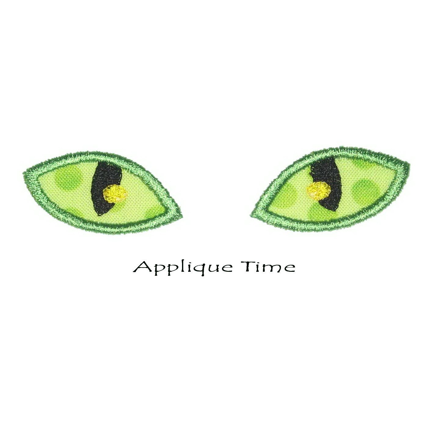 Instant download cat eyes machine embroidery applique design