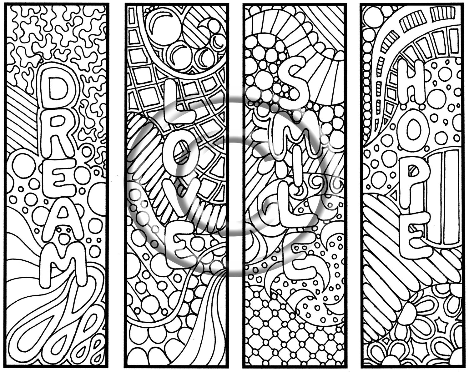 Bookmarks Colouring Pages