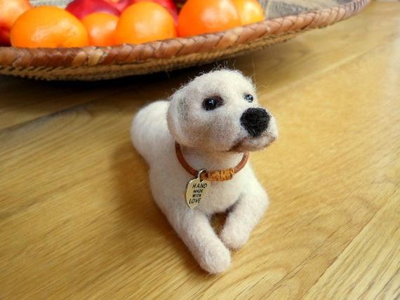 """Needle felted Labrador dog 5"""""""