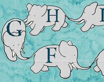 Parade of Elephant - ABC - Alphabet with Babar - Fun and Colorful 11 x 14