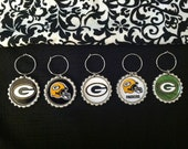 Green Bay Packers Wine Charms