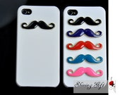 Five Colors For choice---Mustache Iphone 4 Case Cover, iPhone 4s Case, iPhone 4 Hard Case, white iPhone Case