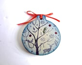 Enchanted Night Christmas Ornament - Xmas Tree Decor - Silent Night Wood Ornament - Back in Stock