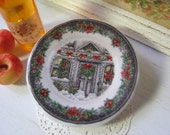 Home for Christmas Plate for Dollhouse