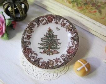 Vintage Christmas Tree Dollhouse Plate