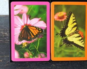 Vintage Butterfly Playing Card Double Deck, 1960s Hamilton US Cards Original Box