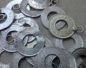 20 Antique Silver Indian Coins: Assemblage Jewelry, Tribal Belly dance, Bellydance