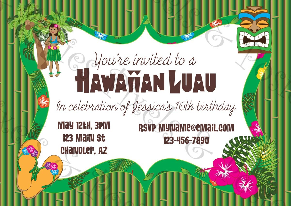 il_fullxfull.359256190_7qwj custom printable party invitation print your own invite,Luau Printable Invitations