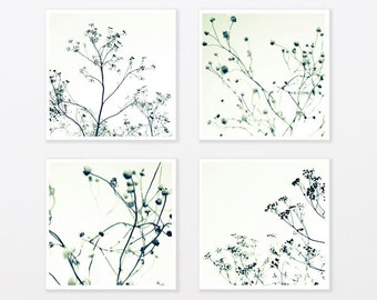 Black and White Photography Set 8x8 16x20 to 40x40 Zen Trees Botanical Minimal loft Wall Decor gift for him for trendy man