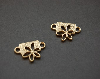 2pc Gold Daisy Slides