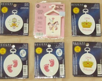 Needle Point Cross Stitch Kits for Christmas Holidays, Baby Shower, New Baby and Mothers Day