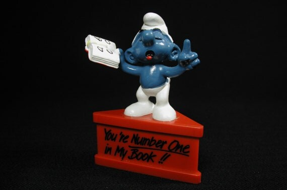 You're Number One in My Book Vintage Smurf-a-Gram