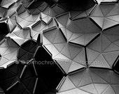 "Monochrome Clouds - 10x8"" Lustre Mounted Premium Fine Art Design Photo Print - Affordable Artwork Decor"