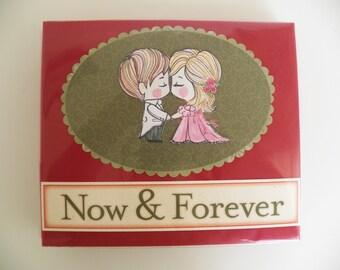 Wedding Album - Wedding Photo Album - Premade Wedding Scrapbook - Album Memory Book - Wedding Gift - Handmade in Montana USA - Free Shipping