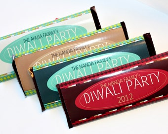 Printable DIY Elegant Om party favors personalized Hershey chocolate wrappers PDF file