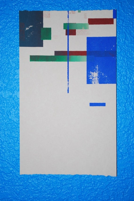 Small Print, Geometric art, lines, printmaking, silkscreen, screen print, abstract art, fine art, ooak, earth tones, natural colors