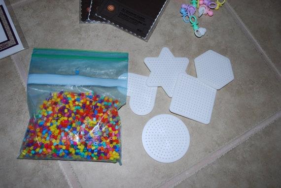 Reserved for Erin Balm Destash Perler Beads and peg boards
