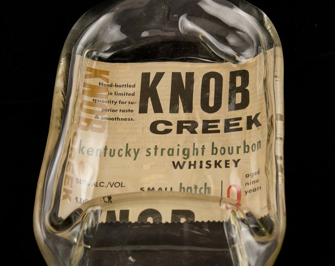 LAST ONE  Knob Creek Whiskey Bottle Melted Into a Dish