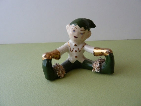 1950's Magical Christmas Elf -  Hand-Painted Sweet Face