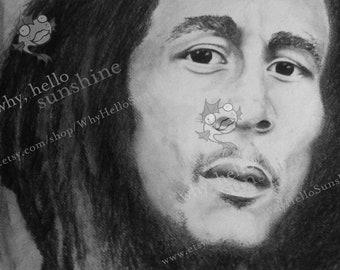 Bob Marley Print - Music Lover - Gift - Art - New Year