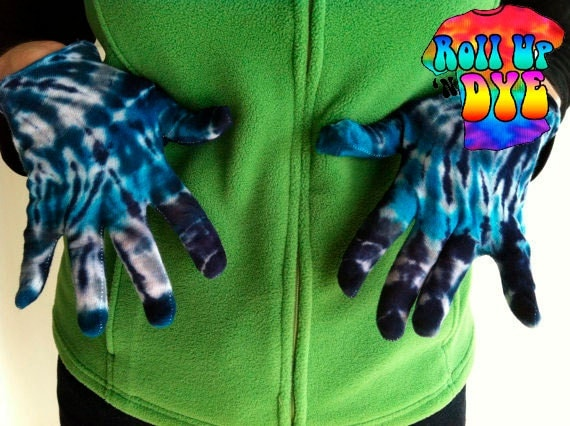 Running Booger Catcher Gloves oh, and they are Tie Dye