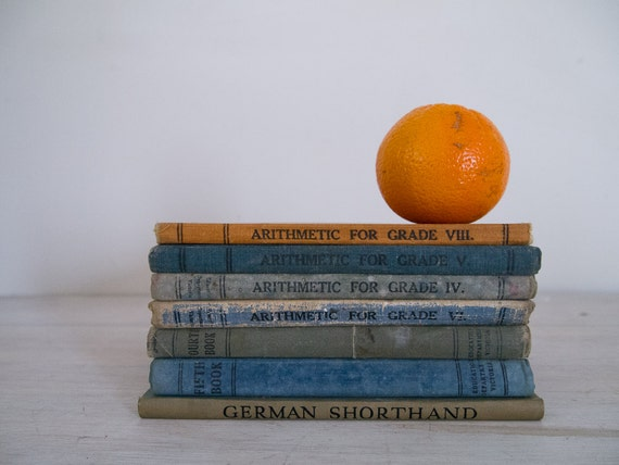 reserved - vintage school book collection, 1930s and 40s