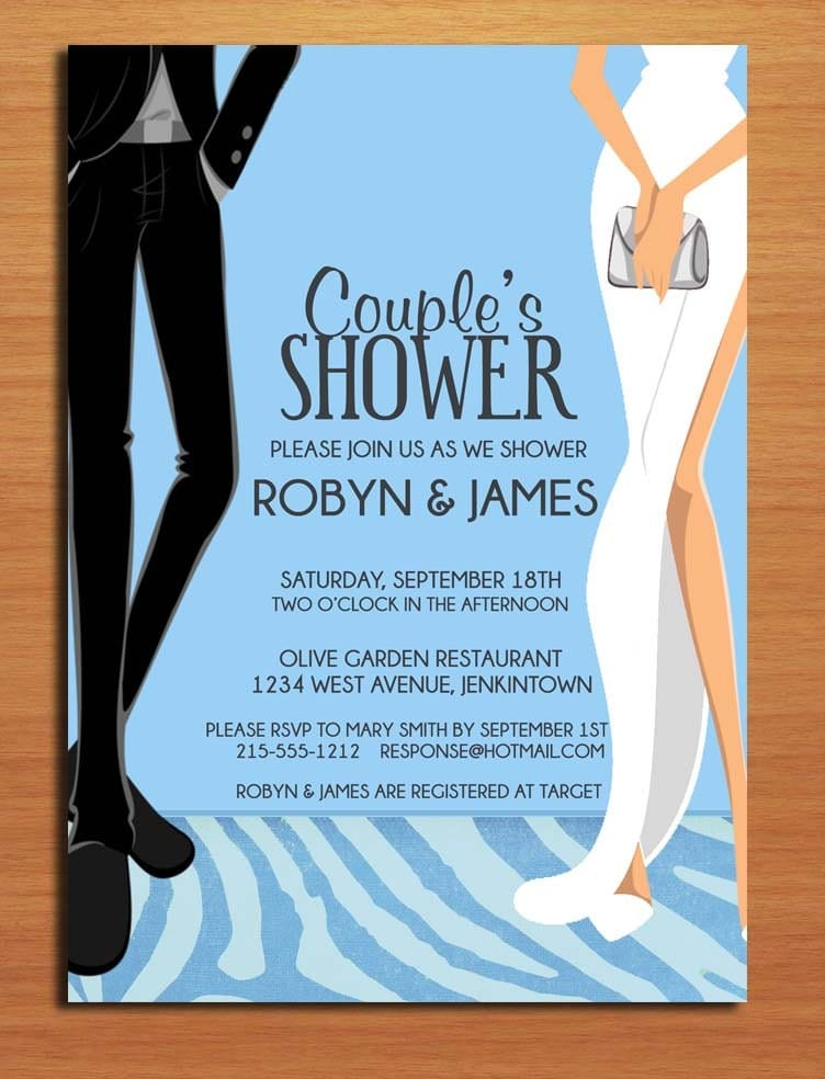 formal dress couple's bridal shower customized printable, Wedding invitations