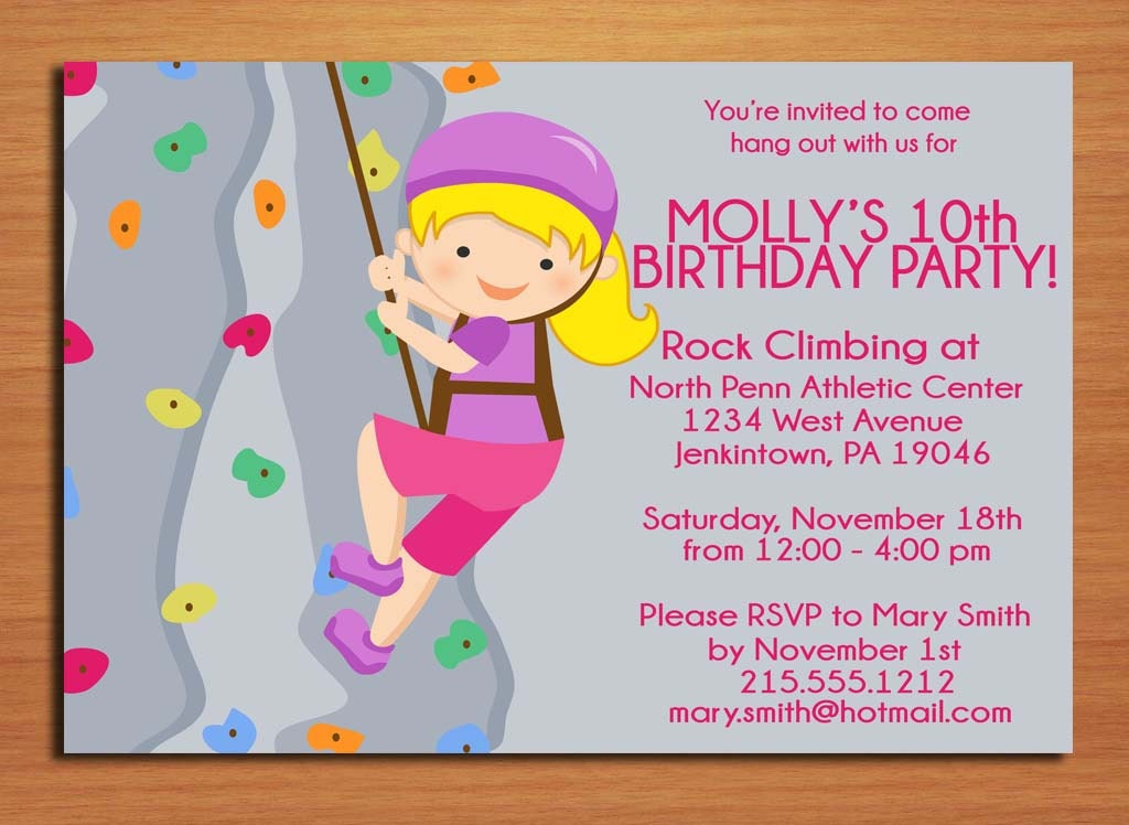 printable girl birthday invitation cards - Military.bralicious.co