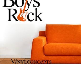 Boys Rock - Vinyl Wall Art