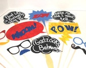 Photo booth Wedding Photo Props - Chalk Board Photo props - Superhero Photo Props