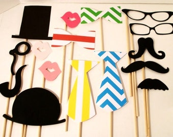 Photo booth Props - Wedding Props - Photo Props - Birthday Photo Props