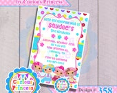358 lala rag doll invitations button printable digital invitation 4x6 cute design girly turquoise lala