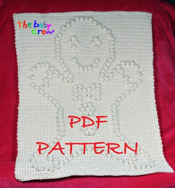 Crochet Pattern Gingerbread Man - Crochet Baby Security Blanket  - Gingerbread Man Blanket Pattern - Car Seat or Stroller Blanket