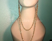 NEW Gold Earlace (Earring Necklace)  As Seen on Rihanna, Mob Wives