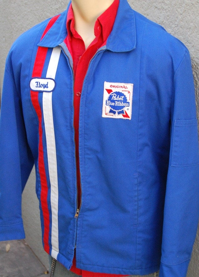 Vintage Pabst Blue Ribbon Beer Uniform Driver Jacket