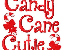 Christmas embroidery design candy cane cutie fill embroidery designs instant download