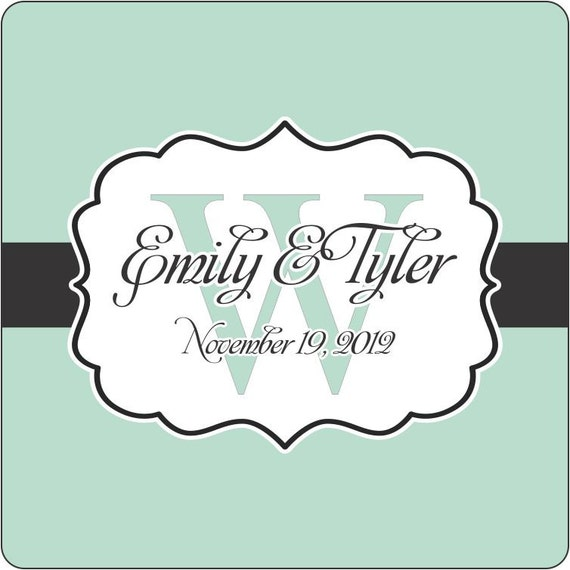 """Wedding Stickers - 100  2.5"""" Square Wedding Favor Labels"""