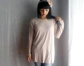 Pink blush tshirt tunic pink long tunic womens tshirt lace blouse