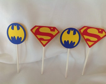 Super Hero Party Cupcake Toppers 12 count