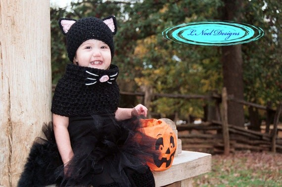 Black Cat Hat and Cowl Set- Black Cat Costume- Kids Halloween Costume- Baby Cat hat and cowl set- Crochet Cat Hat- Crochet Cat Costume  sc 1 st  Trendy New Designers & Cheap Halloween Costumes For Kids - Trendy New Designers